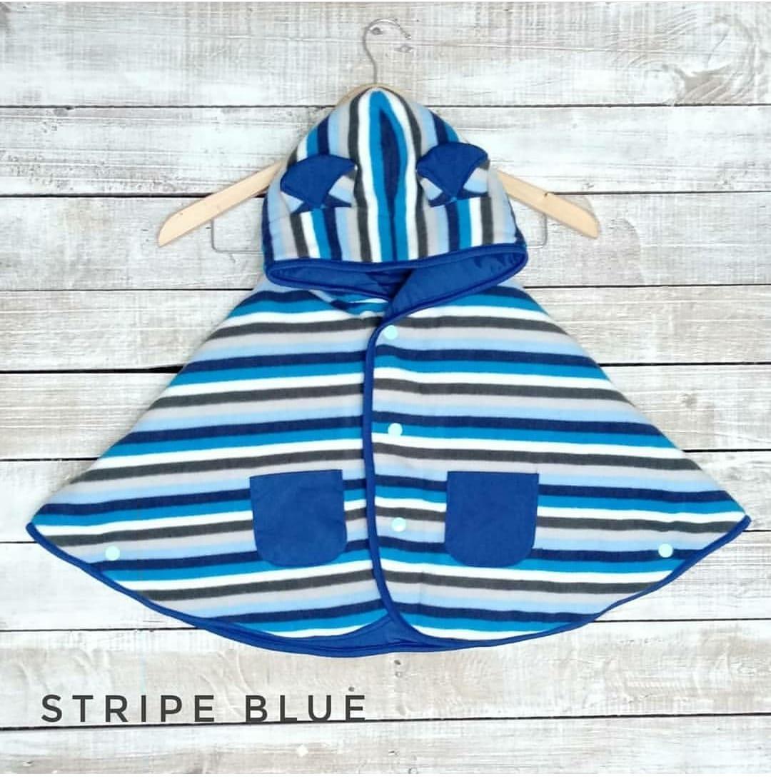 Pakaian Anak Cuddle Me Daftar Harga Oktober 2018 Mantel Bayi Baby Cape Red Jaket Selimut Stripe Blue