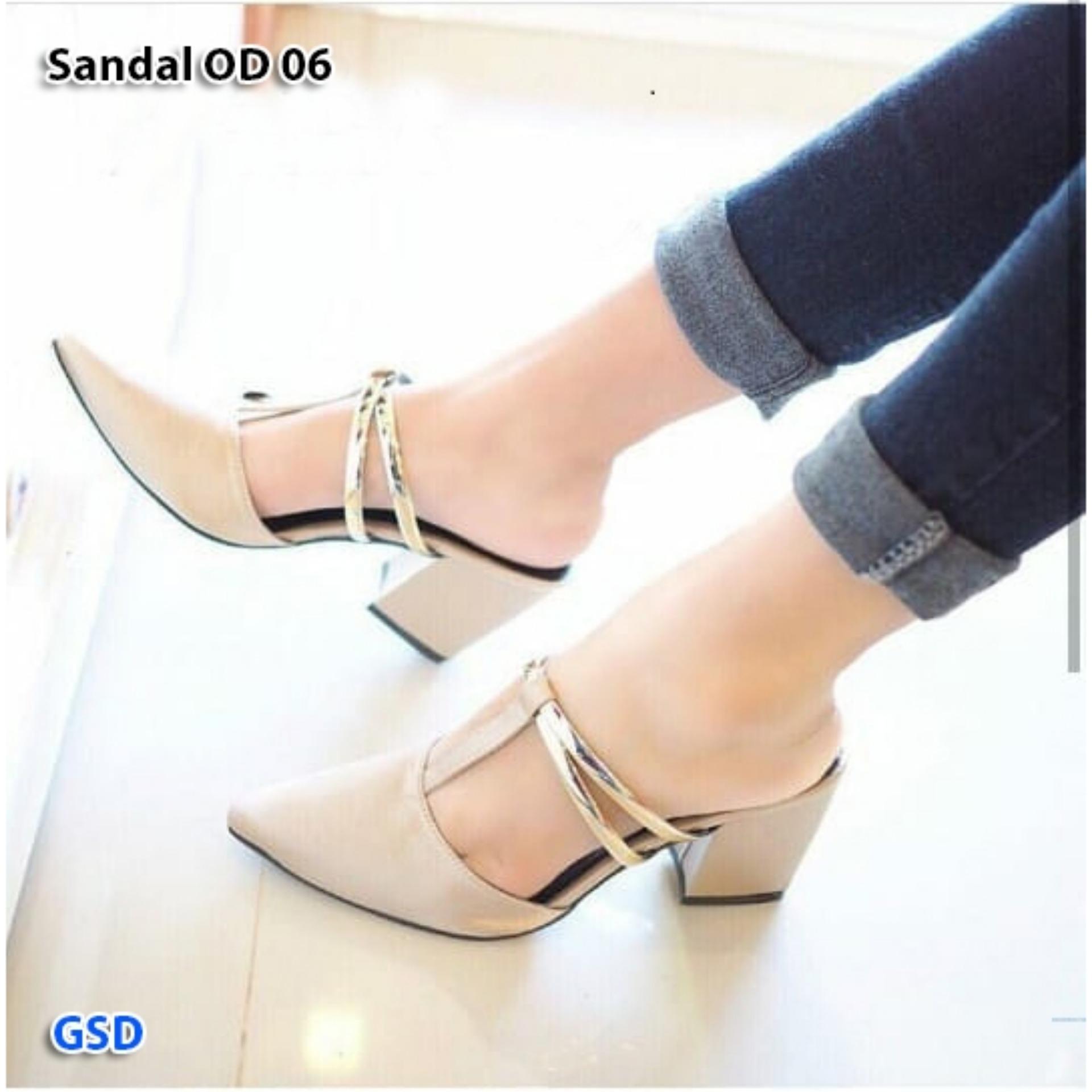 Fashion sandal wanita sandal hils glow Sandal OD 06
