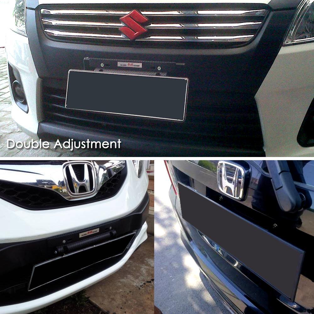 Autorace Dudukan/Tatakan Plat Nomor Carbon Mobil/ Breket/Braket/Bracket JDM Sparco - Black | Lazada Indonesia