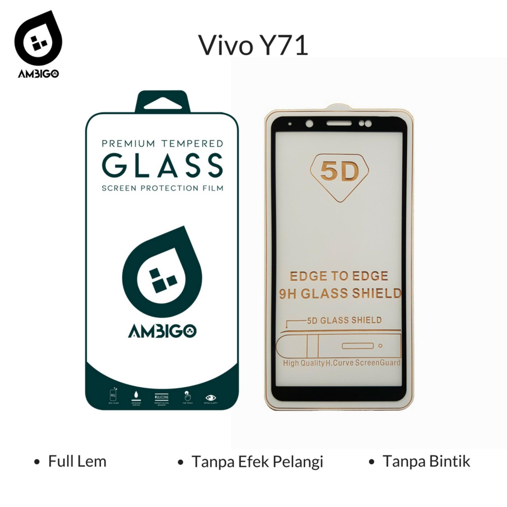 Pelindung Layar Handphone Tablet Log On Anti Shock Screen Protector Gores Iphone 7 Plus Depan Tempered Glass 5d Full Cover Warna Kaca Lem Untuk Vivo Y71