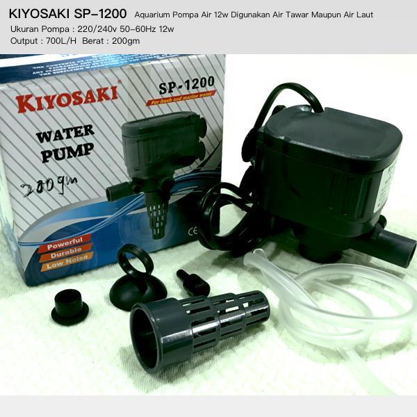 Rp34.500Aquarium Pompa Air 12w KIYOSAKI SP1200 Bisa Digunakan Air Tawar & Air Laut