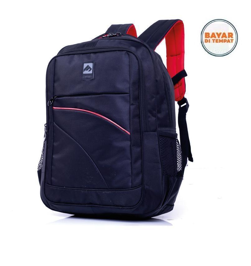 Garsel Tas Ransel Backpack Sekolah Kuliah Kerja Trendy ABS 5583 - Hitam