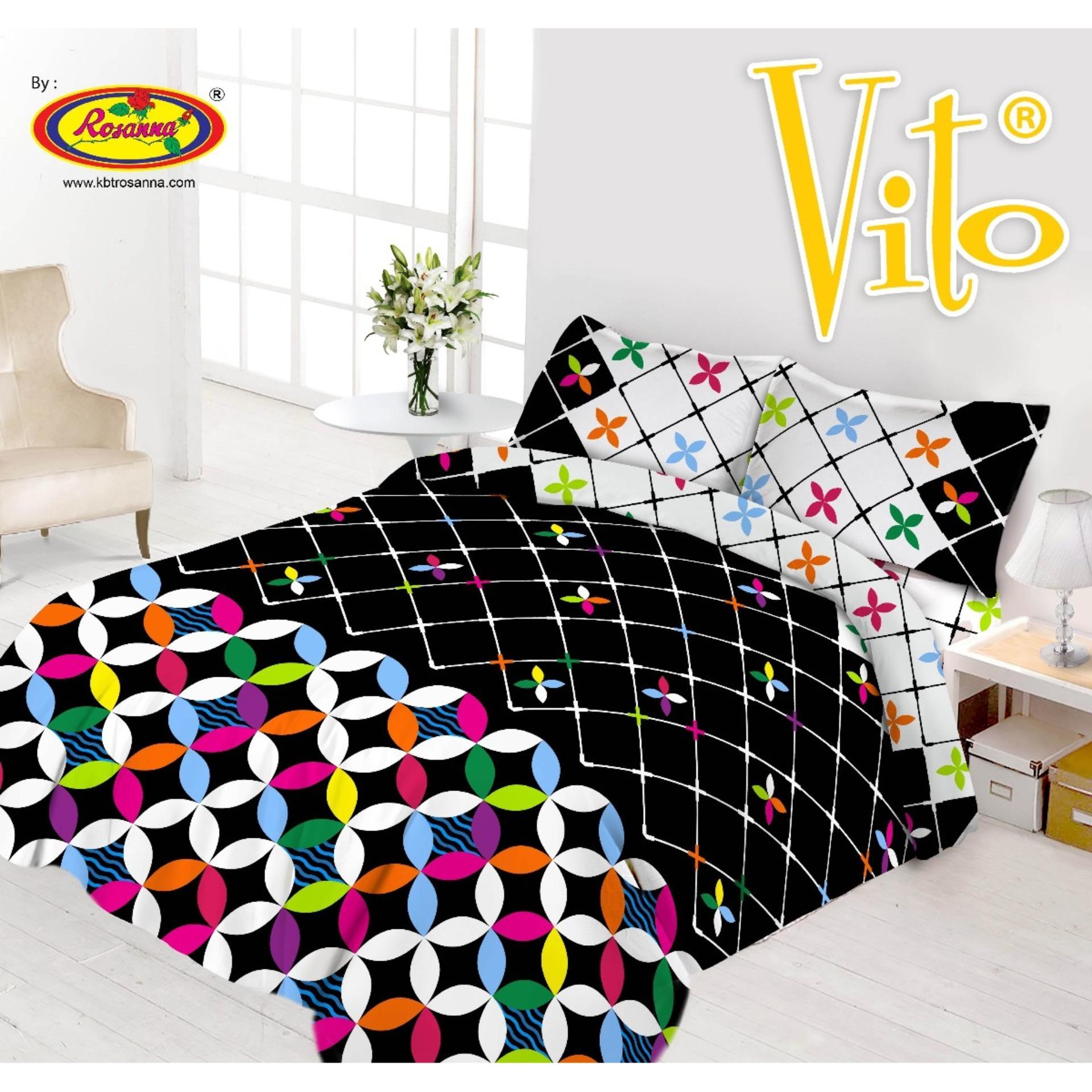 Home Living Vito Sprei Daftar Harga Maxtron Mg 361 Ello Handphone 3d Disperse 180x200 4 Sarung Bantal Black Clover