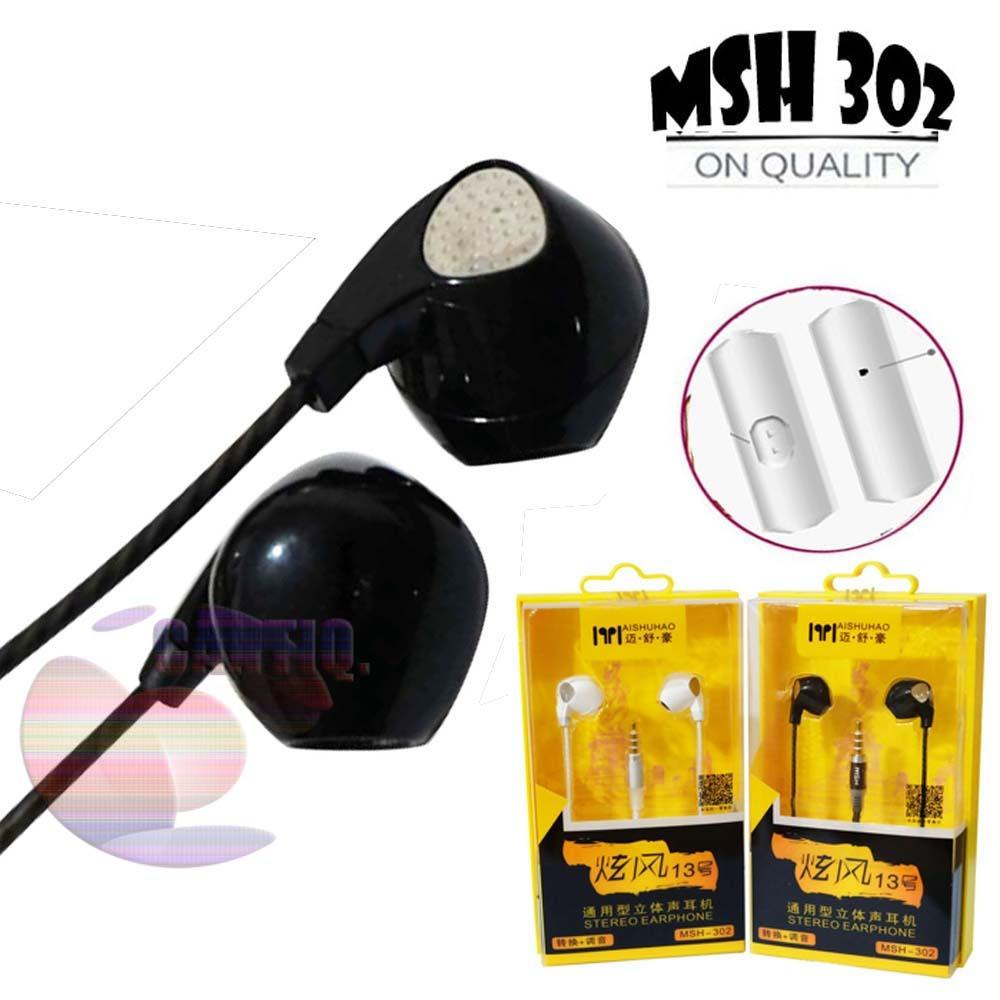 MSH Headset Stereo Bass MSH 302 Headset For Samsung Headset For Oppo Headset For Vivo Headset