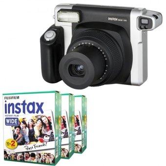 FUJIFILM Instax WIDE 300 Instant Camera + WIDE Putih 60 Film (Hitam)