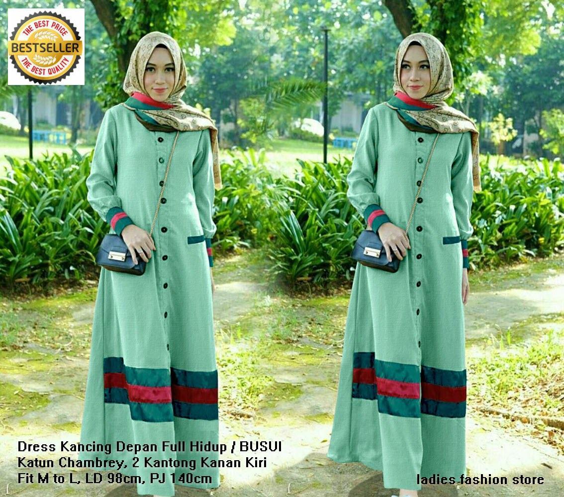 Busui Gamis Dress Kancing Depan Baju Busui Gaun Pesta Jalan Jalan Syari Muslimah Remaja Kekinian Baju Gamis Terbaru Modern Gamis Pengajian Atasan Baju Lengan Panjang