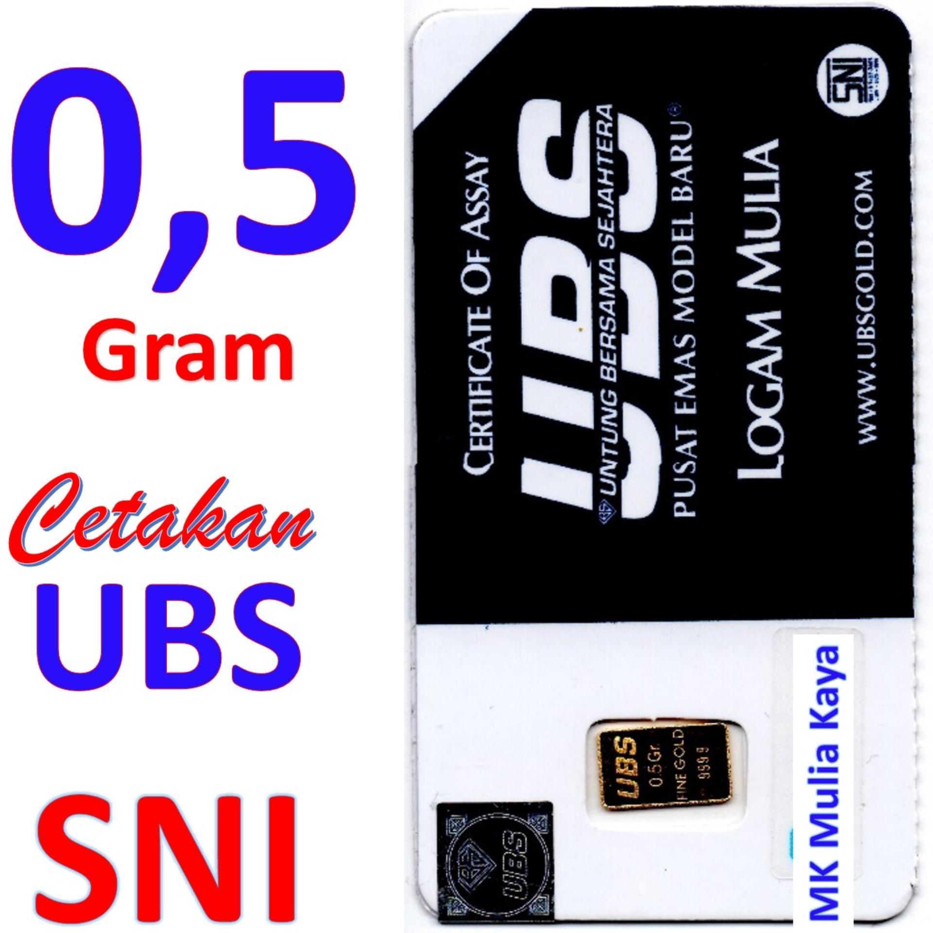 Gold Logam Mulia Lm Sertifikat Asli Ubs 05 Gram Emas Batangan