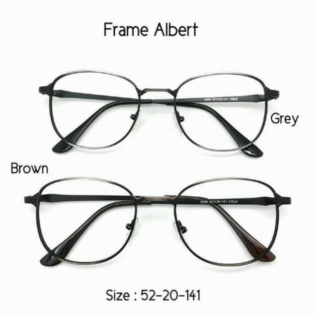 Frame Albert Stainless Kacamata Wanita Pria Fashion Murah Lensa Baca Minus  Rp90.250 b7c9d523bd