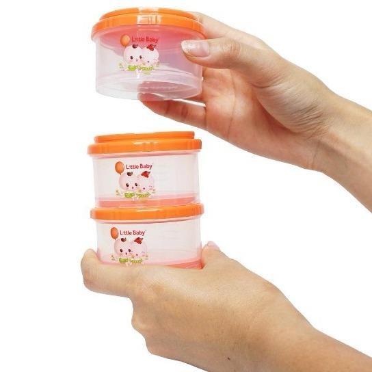 Little Baby Milk Powder Container/ Kontainer Tempat Susu Bubuk 3 Susun (808 S-