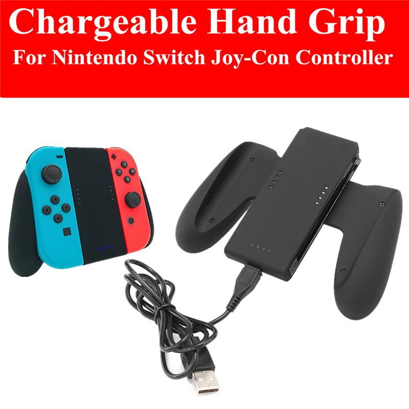 LONG B Hand Grip Charger Holder For NintendSwitch NS Switch 1000MAH Joy-Con Comfort Grip Handle Charge Dcok Station Bracket With Charging Cable - intl