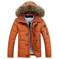 2018 người đàn ông mới dày ấm áp xuống áo khoác bé trai lớn vải lông Áo khoác