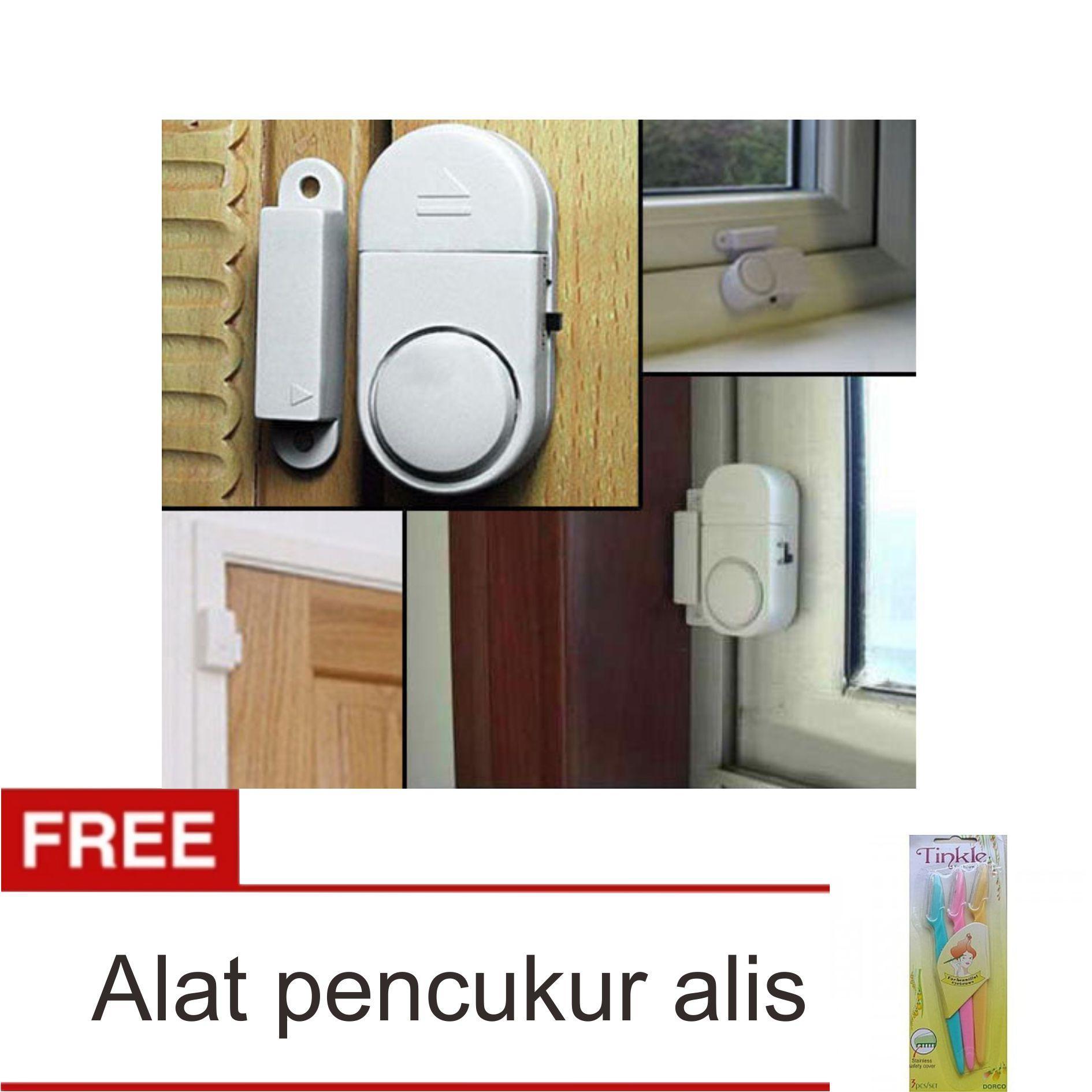 lanjar jaya Alarm Pintu Jendela Rumah Anti Maling - Door Window Entry Alarm + Pencukur Alis