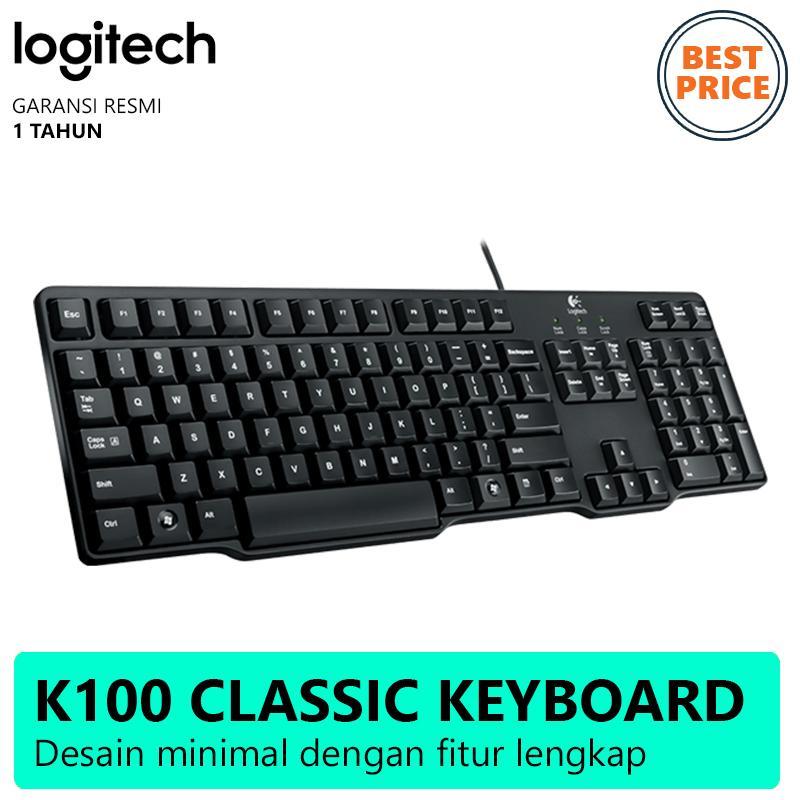 Logitech Classic Keyboard K100 Hitam Lazada Indonesia