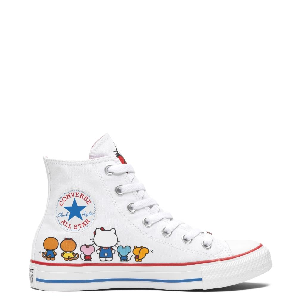 CONVERSE X HELLO KITTY CHUCK TAYLOR ALL STAR - HI - WHITE/PRISM PINK/
