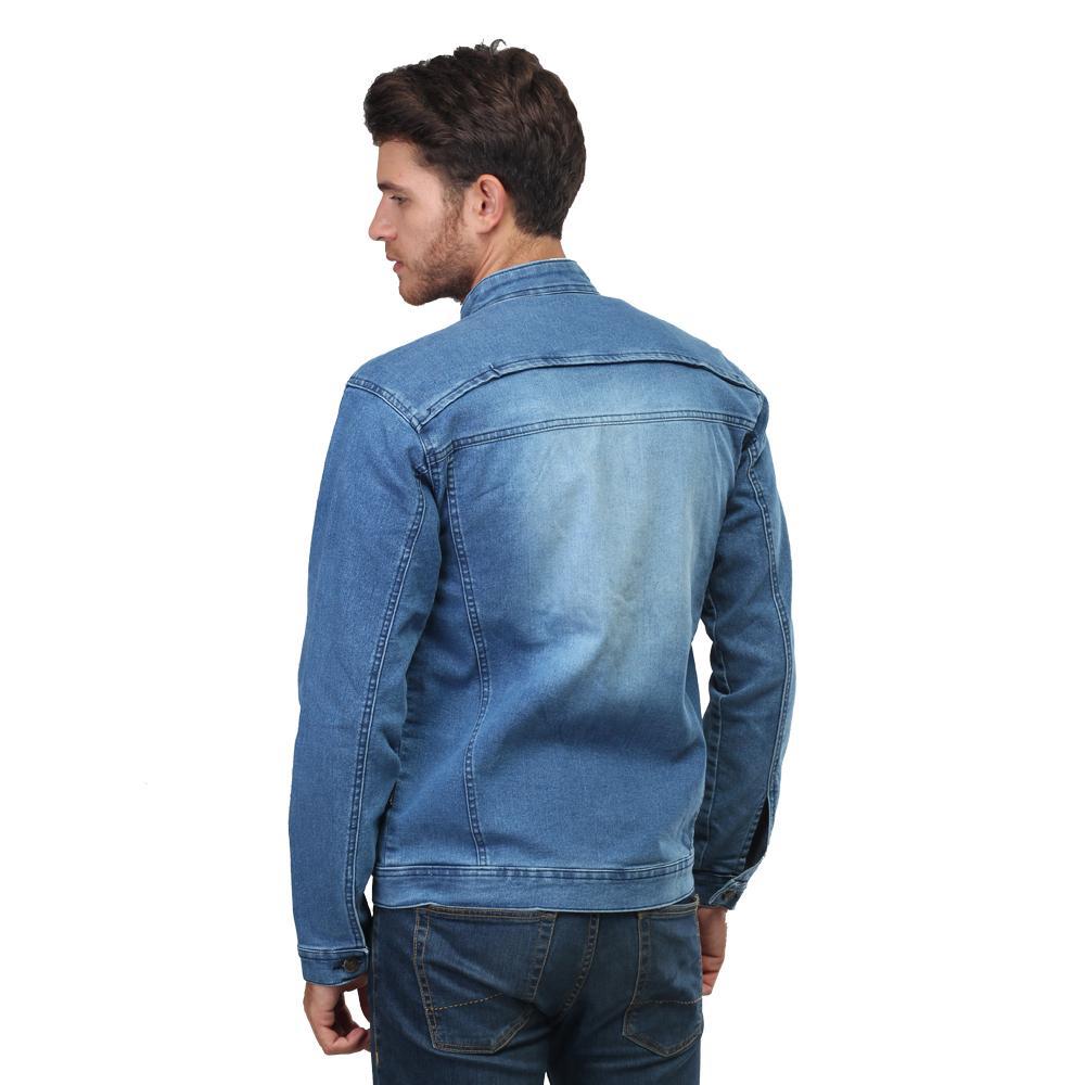 Inficlo Jaket Jeans Denim Sekolah Kuliah Kerja Motor Bikers - Pria - Biru  b8e5aa1846