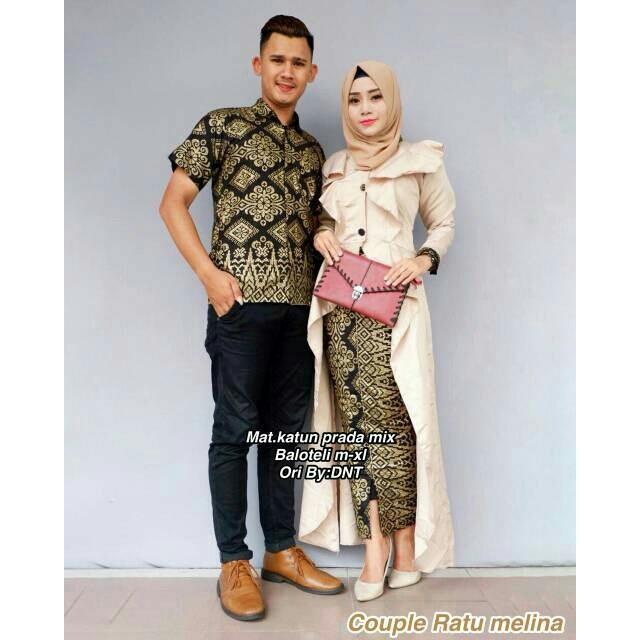 Rp169.000Batik Couple - Baju batik couple - Couple Batik - Batik Sarimbit -  Batik Kondangan - Baju Batik Ratu Melina Couple bad0923788