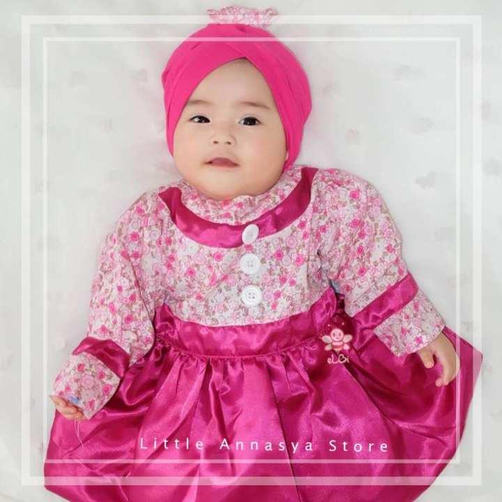 Baju Bayi Perempuan / Baju Muslim Anak Perempuan / Gamis
