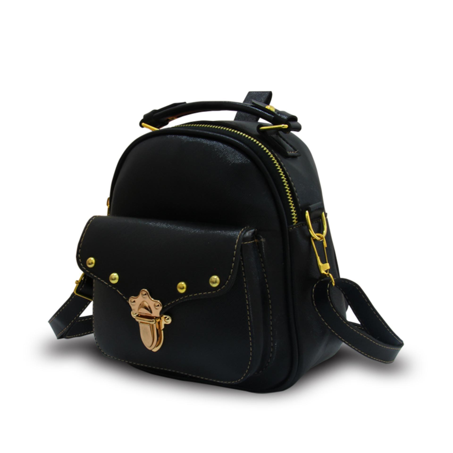 Fashionity Errika Mini backpack 0800 NAVY - Tas Wanita - 2 Fungsi - Tas Ransel -