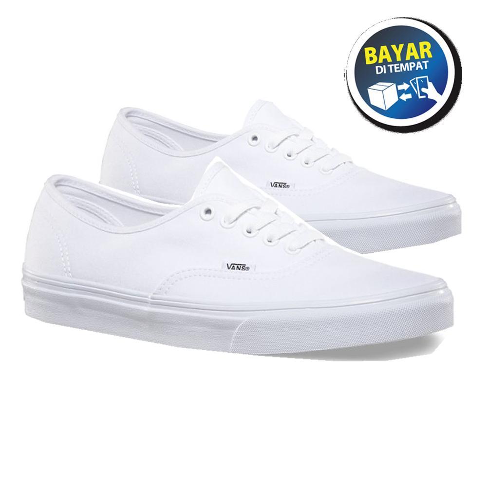 Zacksho Sepatu Vans California Authentic Sneakers casual Full Putih Sekolah  Made In Vietnam Pria dan Wanita 4dd559e7f9