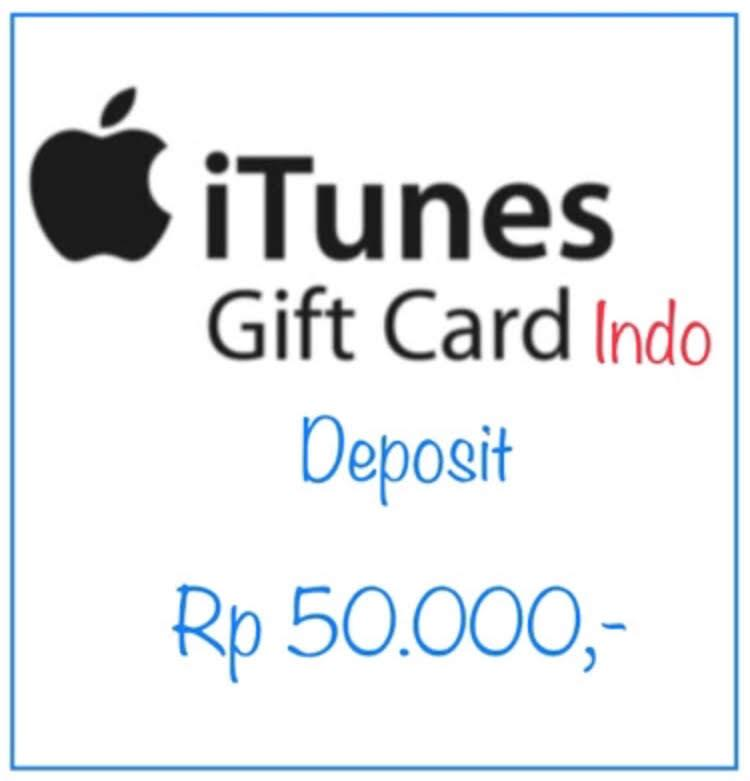 Rp50.000iTunes Gift Card Region Indonesia 50RB