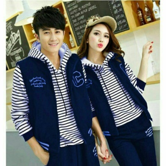 couple store cs - jaket C navy ( outer + dalam ) babyterry jahitan rapi