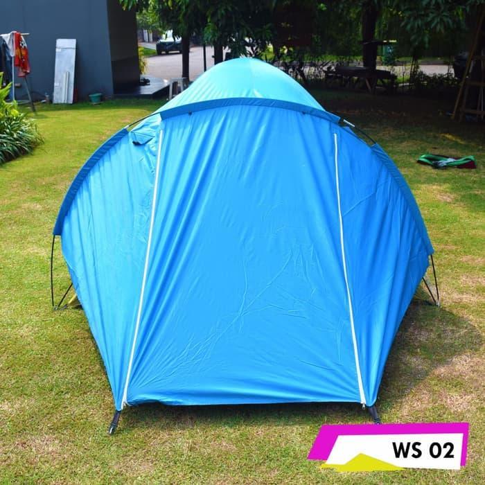 Tenda WS002 Camping Hiking Dewasa Double Layer Kapasitas 3 / 4 Orang | Lazada Indonesia