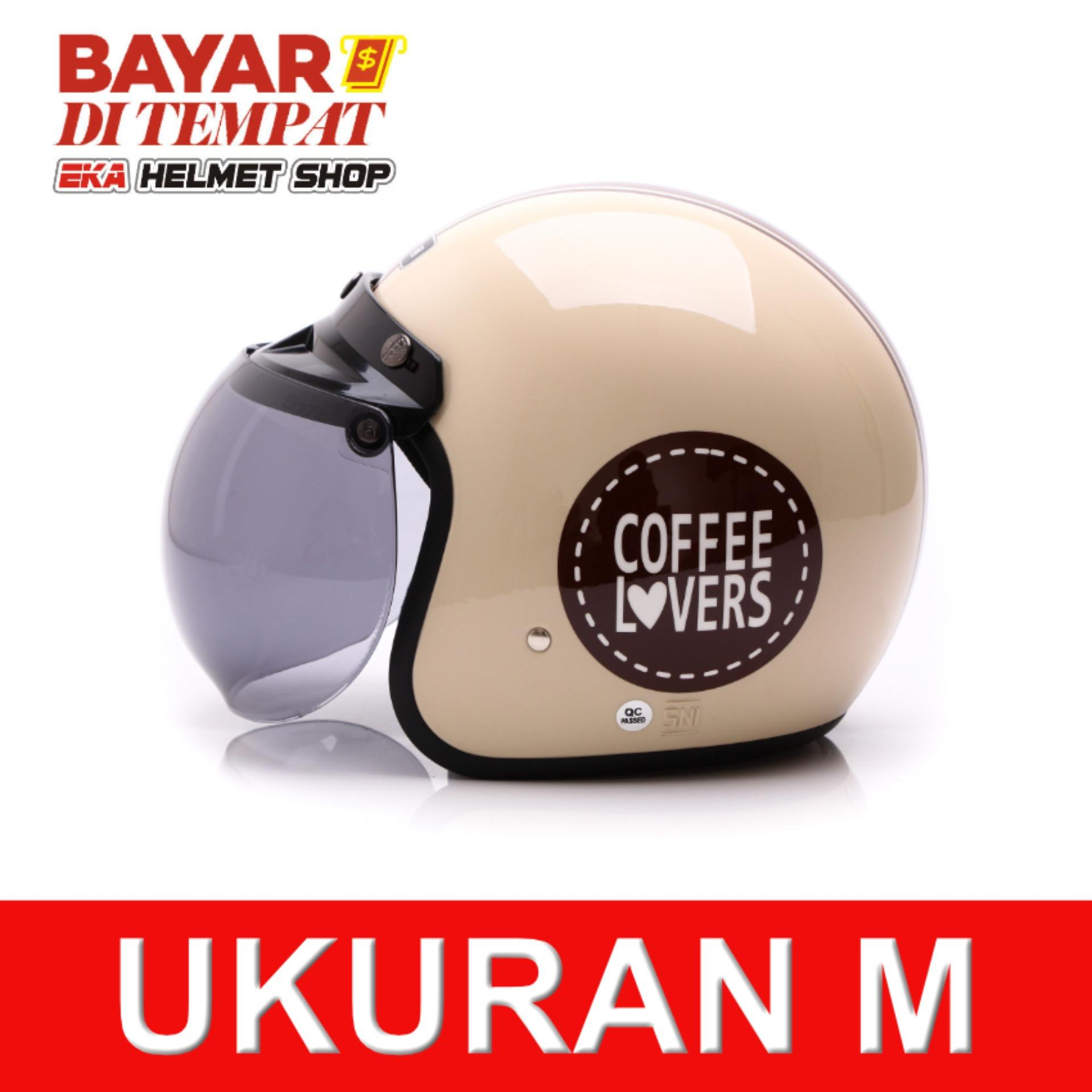 WTO Helmet Retro Bogo - Coffee Lovers - Krem | Lazada