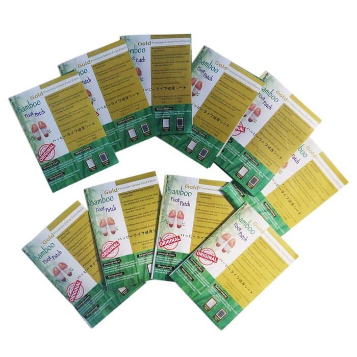 Bamboo Gold Foot Patch Premium Detox - 20 pasang Detoks Racun | Lazada Indonesia