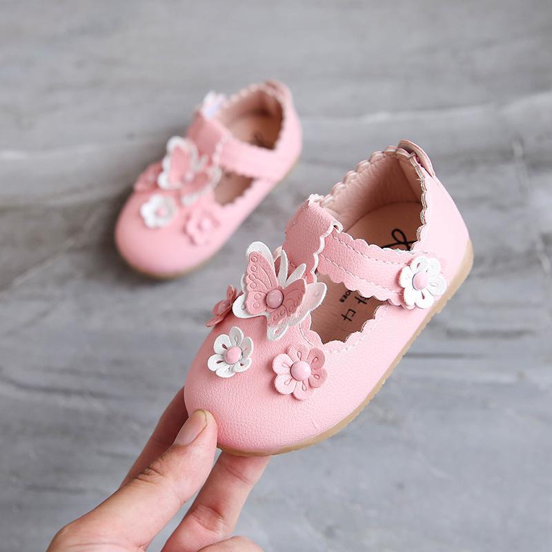 2018 musim gugur model baru sepatu anak perempuan sepatu putri sepatu lapisan tunggal Sepatu Kulit Petpet