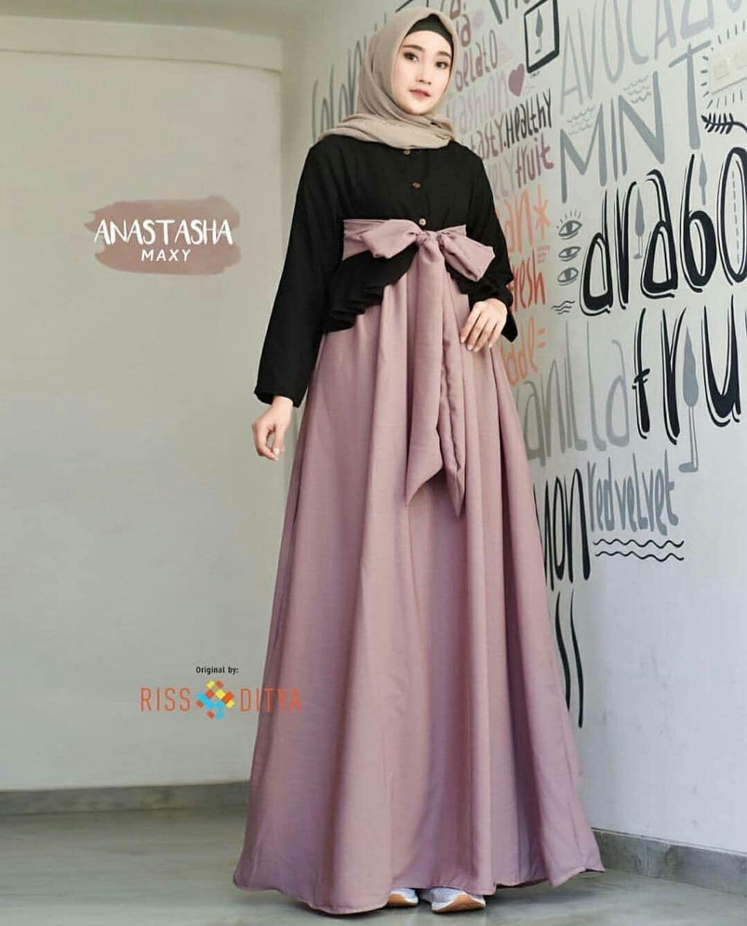 Rp88.550Baju Muslim Original Anatasya Maxy Balotely Gamis Wanita Muslimah  Maxy Panjang Grosir Pakaian Cewek Hijab Kekinian Fashion Modis Gaun  Sarimbit ... 8640ca0936