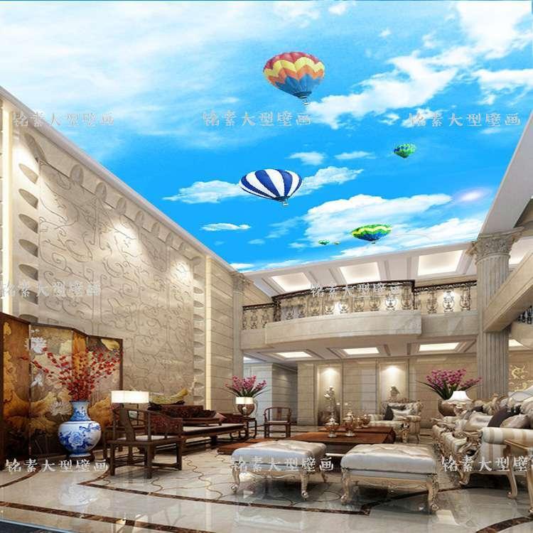Blue Sky MOONACME Wallpaper Living Room Roof Decoration 3D Ceiling Mural Wallpaper Bar KTV Hall Background