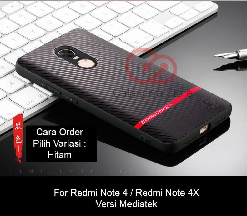 Calandiva Gentleman Series Shockproof Hybrid Premium Quality Grade A Case for Xiaomi Redmi Note 4 Mediatek