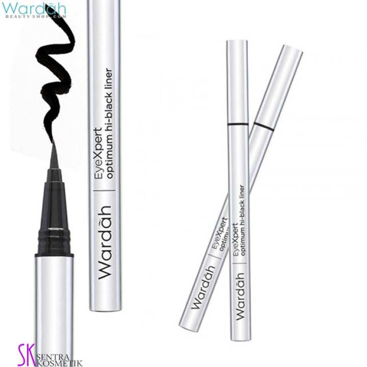 Wardah EyeXpert OPTIMUM HI-BLACK Liner - Eye Liner Spidol