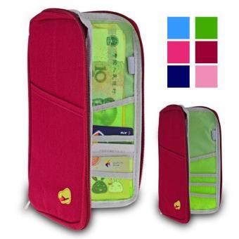 360 Wish Multi-Fungsi Kartu Portabel Ponsel Tas Penyimpanan-Anggur Merah