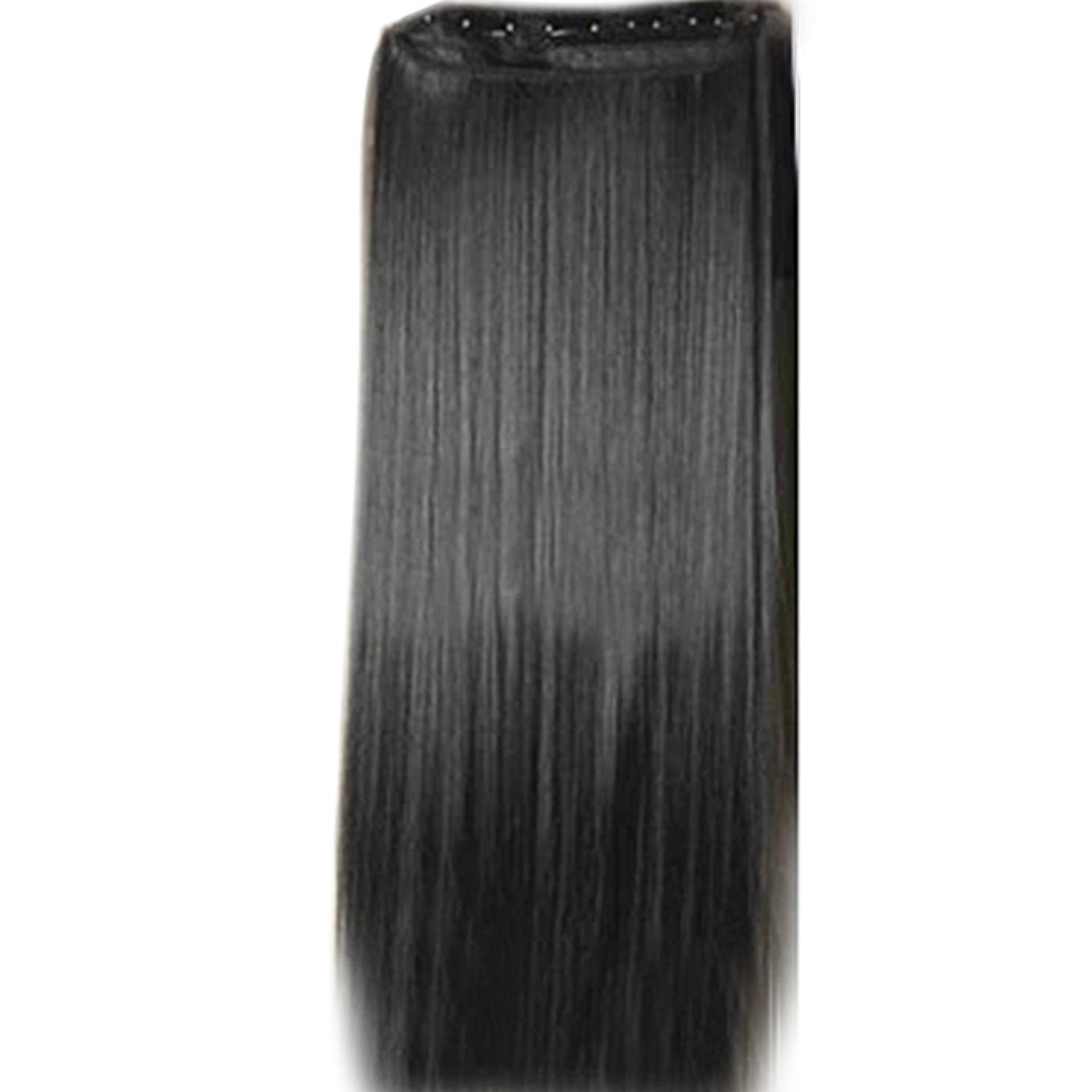 Gaya Fashion Rambut Lurus Panjang Klip Di Ekstensi Wig Sopak 20 Cm X 60 Cm  Matt  aaa92478f6