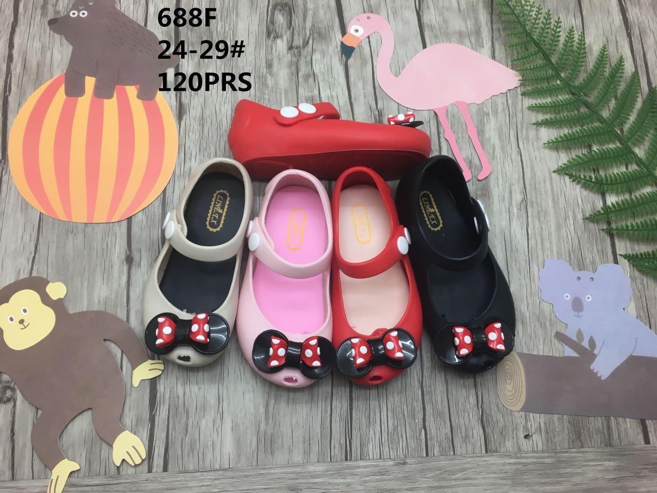 Sepatu Sekolah Sandal Anak Balita Perempuan Slip On Bayi Dan Cewek  Mickey Jelly Shoes 1 5 Thn Aksen Pita Tg15