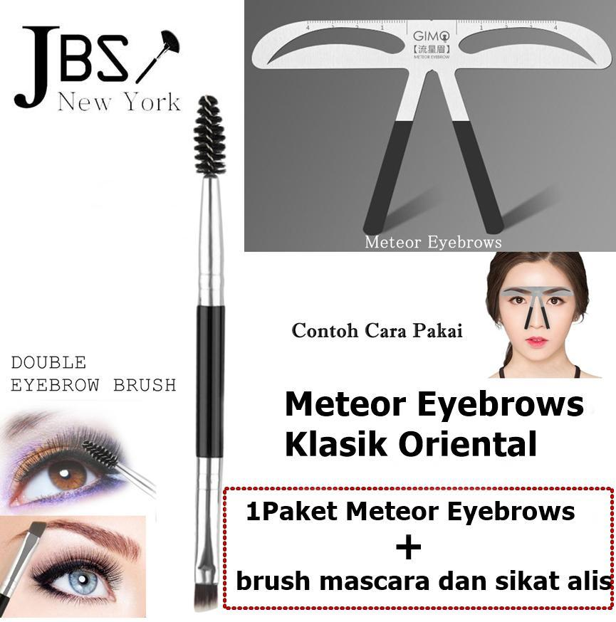 JBS Penggaris Cetakan Alat Pembentuk Tatoo Alis 06 eyebrow ruler Stainless Dan 2 In 1 Alis