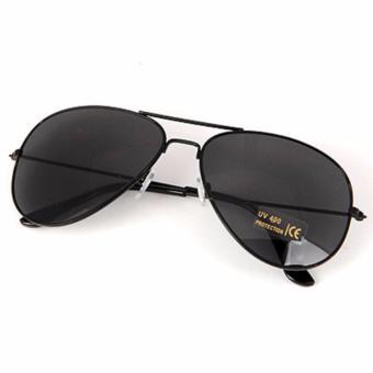 LRC Kacamata Black Simple Design Alloy Women Sunglasses