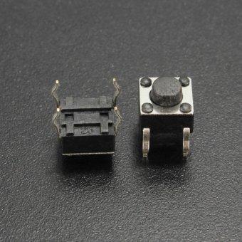 100 Pcs Taktil Tombol Tekan Tombol Pengalih 6X6X5 Mm 4 Pin-Dip-Intl