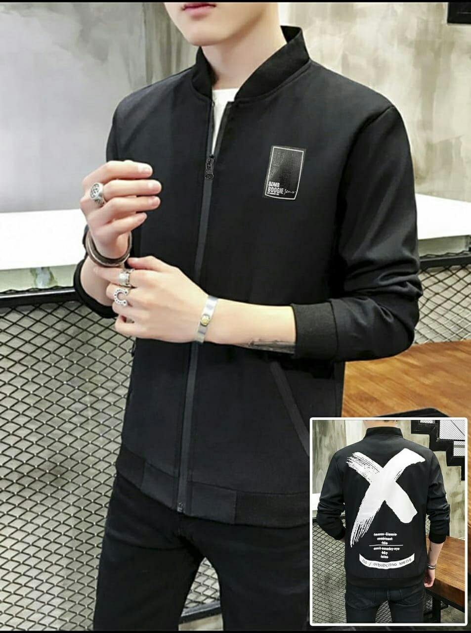 Hc - jaket pria x boms - jaket pria - blazer pria - pakaian pria - f44c815120
