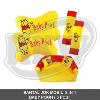 Bantal 3 In 1 Baby Pooh Mobil Bantal Mobil