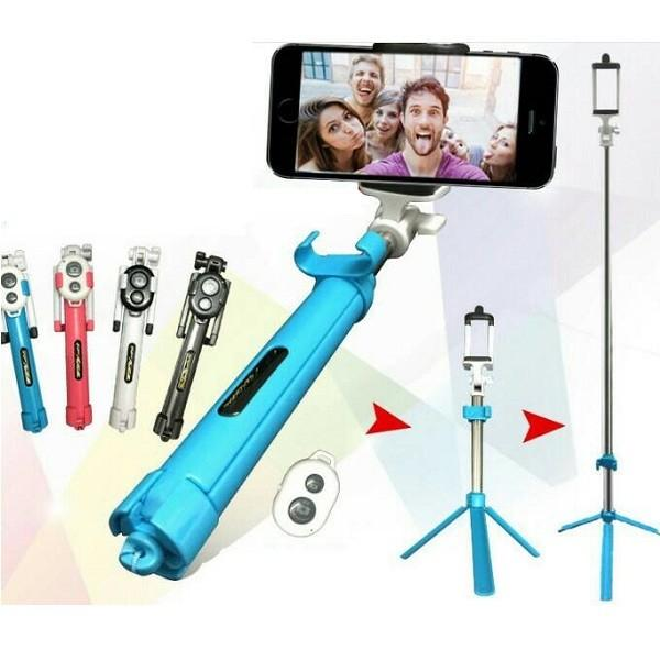 Universal 3 In 1 Selfie Stick - (Tongsis)