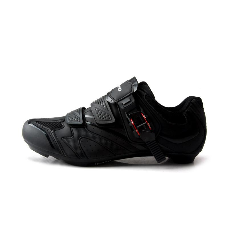 TIEBAO R1413 Road Bicycling Shoes New Outdoor Cycling Shoes Unisex Breathable White & Black Bike Shoes LOOK-KEO Cleat Compatible