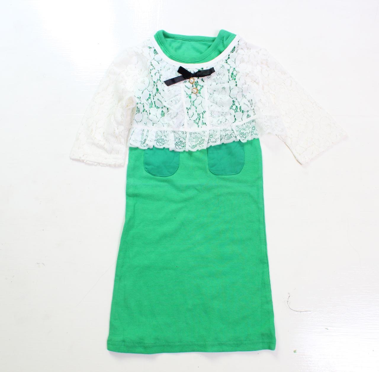 PLAYFUL TOTS Dress Tantop Saku Depan + Cardigan Brukat