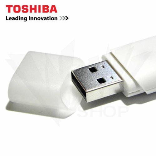 VR24-Power Flashdisk USB Flash Drive Toshiba 32 GB Putih Original Merek Bonus Handsfree