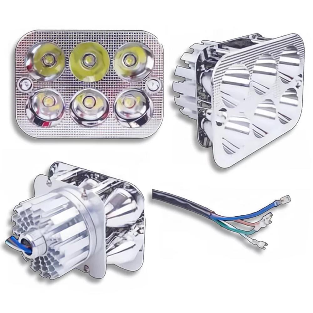 Lampu Motor Bentuk Kotak 6 LED