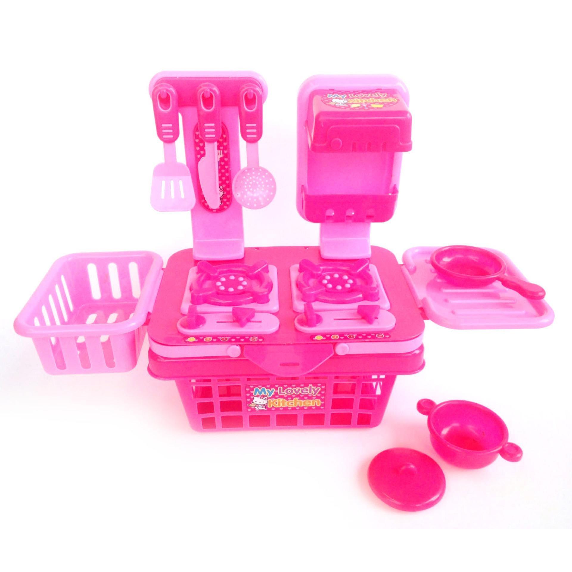 Mainan Anak Perempuan Masak Masakan Mainan Anak Edukasi Mainan Masak Masakan My Lovely Kitchen Mainan Murah Lazada Indonesia
