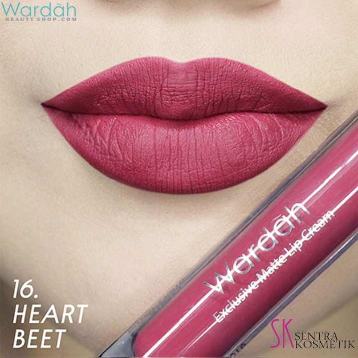 Wardah EXCLUSIVE MATTE LIP CREAM No 16 - HEART BEET