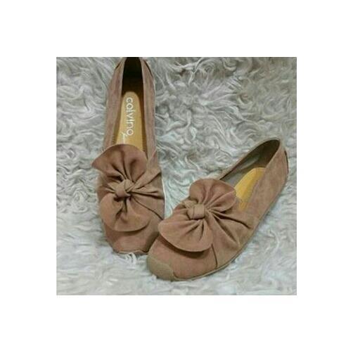Rp55.500 · MZ SHOES - sepatu wanita flat bludru variasi pita