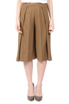 Yoorafashion Celana Kulot Wanita - Layer Cullotes Pants [Cream]